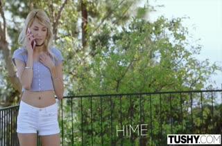 Блондинку Hime Marie устраивает анальное порно
